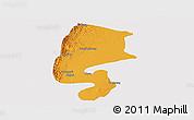 Political Panoramic Map of Katha, single color outside