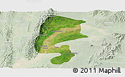 Satellite Panoramic Map of Katha, lighten