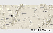 Shaded Relief Panoramic Map of Katha