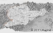 Gray Panoramic Map of Lahe