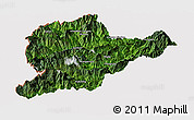 Satellite Panoramic Map of Lahe, cropped outside