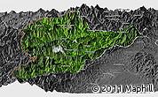 Satellite Panoramic Map of Lahe, desaturated