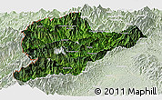 Satellite Panoramic Map of Lahe, lighten