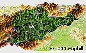 Satellite Panoramic Map of Lahe, physical outside