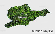 Satellite Panoramic Map of Lahe, single color outside