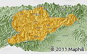 Savanna Style Panoramic Map of Lahe