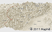 Shaded Relief Panoramic Map of Lahe