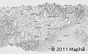 Silver Style Panoramic Map of Lahe