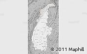 Gray Map of Sagaing