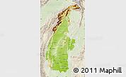 Physical Map of Sagaing, lighten