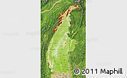Physical Map of Sagaing, satellite outside