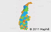 Political Map of Sagaing, cropped outside