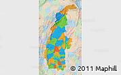 Political Map of Sagaing, lighten