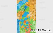 Political Map of Sagaing, political shades outside