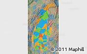 Political Map of Sagaing, semi-desaturated