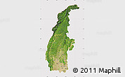 Satellite Map of Sagaing, cropped outside