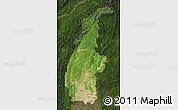 Satellite Map of Sagaing, darken