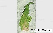 Satellite Map of Sagaing, lighten