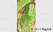 Satellite Map of Sagaing, physical outside