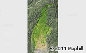 Satellite Map of Sagaing, semi-desaturated