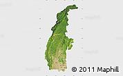 Satellite Map of Sagaing, single color outside