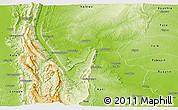 Physical Panoramic Map of Mingin