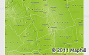 Physical Map of Monywa