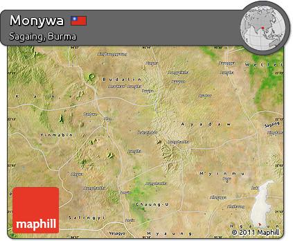 Free Satellite Map of Monywa