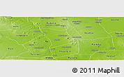 Physical Panoramic Map of Monywa