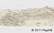 Shaded Relief Panoramic Map of Nanyun