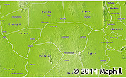Physical 3D Map of Ngazun