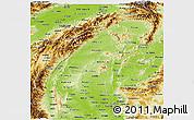 Physical Panoramic Map of Sagaing