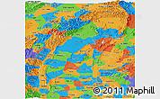 Political Panoramic Map of Sagaing