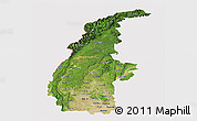 Satellite Panoramic Map of Sagaing, cropped outside