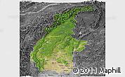 Satellite Panoramic Map of Sagaing, desaturated
