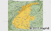 Savanna Style Panoramic Map of Sagaing