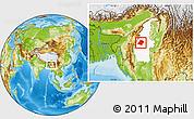 Physical Location Map of Phaungbyin, highlighted parent region