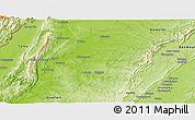 Physical Panoramic Map of Phaungbyin