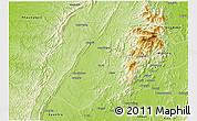 Physical 3D Map of Pinlebu