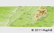 Physical Panoramic Map of Pinlebu