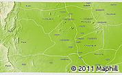 Physical 3D Map of Salingyi
