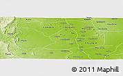 Physical Panoramic Map of Salingyi