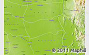 Physical Map of Shwebo