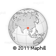 Outline Map of Shwebo
