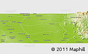 Physical Panoramic Map of Shwebo