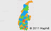 Political Simple Map of Sagaing, cropped outside