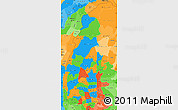 Political Simple Map of Sagaing, political shades outside