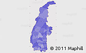 Political Shades Simple Map of Sagaing, cropped outside