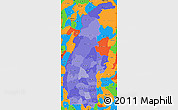 Political Shades Simple Map of Sagaing, political outside