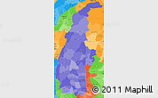 Political Shades Simple Map of Sagaing